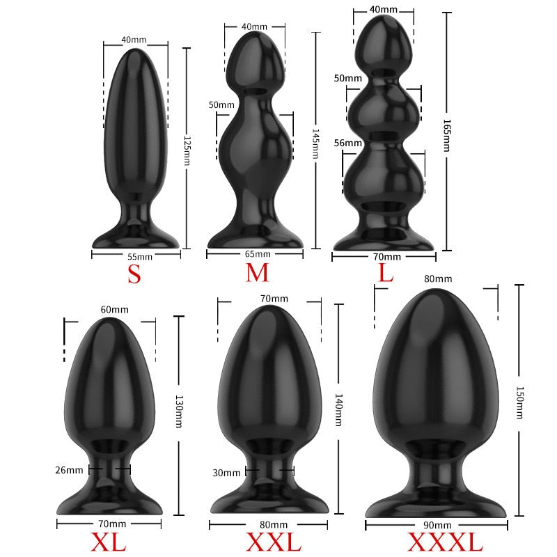 Adult Large Anal Sex Toys Huge Size Butt Plugs Prostate Massage For Men Female Anus Expansion Stimulator Big Anal Beads
