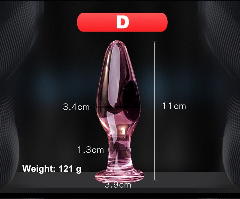 5 Style Crystal Butt Plugs Set Pyrex Glass Anal Dildo Ball Bead Fake Penis Female Masturbation Sex Toy for Adult Women Men Gay