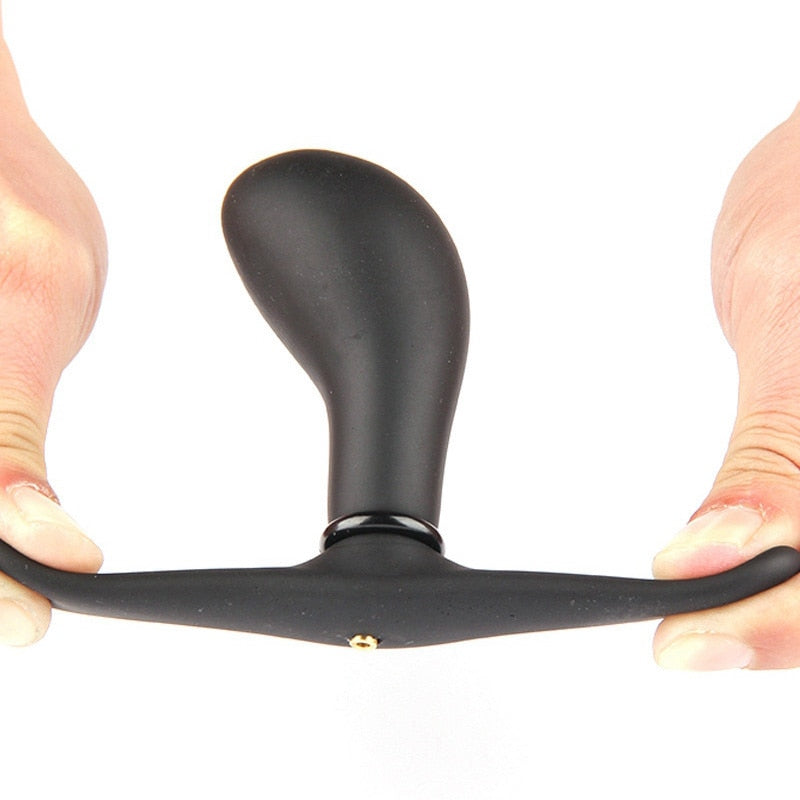 Inflatable Butt Plug With Metal Ball Prostate Massager