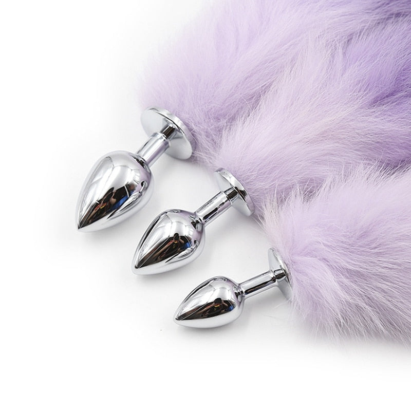 Wild Purple Fox Tail Butt Plug