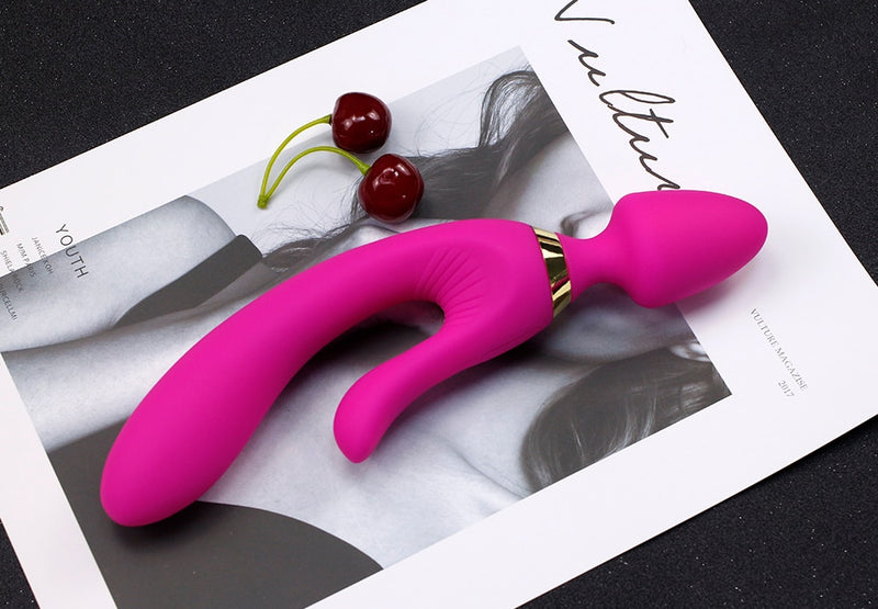 3 Motor G Spot Clitoris Anal Dildo Vibrator 5 Mode 3 Speeds Erotic Toys