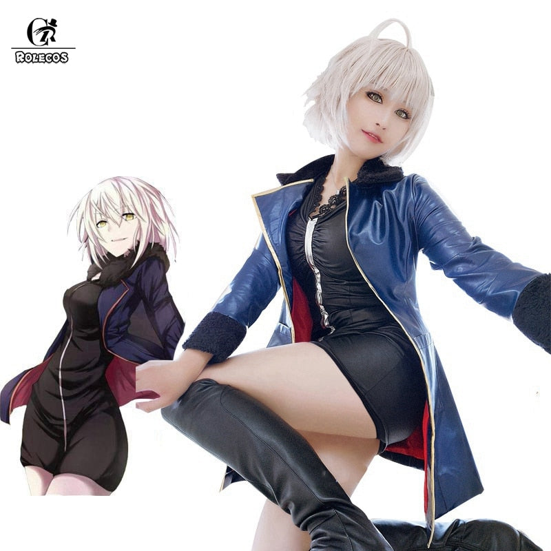 ROLECOS FGO Alter Cosplay Fate Grand Order Anime Costumes Mash Kyrielight Saber Cosplay Women Sexy Costumes Game Jeanne d'Arc