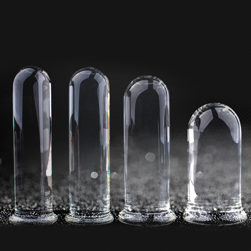 Diameter 4/4.5/5/6CM Large Clear Crystal Butt Plug Anal Plug Glass Anal Vagina Sex Toys For Women Men Prostate Massager Toys