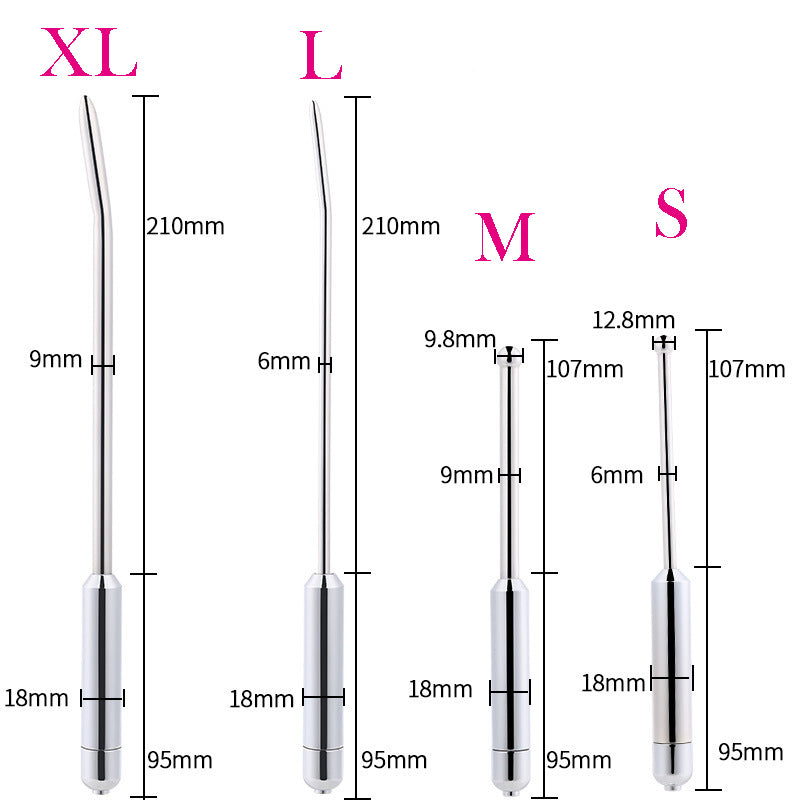 20-Frequency Vibrating Dilator Male Stainless Steel Urethral Dilator Uretral Plug Sounding Vibrating Penis Plug Sex Toys For Men