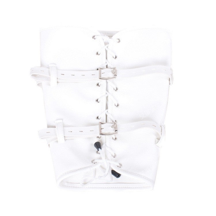 TOP quality white leather Leg straps chastity harness kinky fetish leg spreader bondage harness restraints sex tools for sale