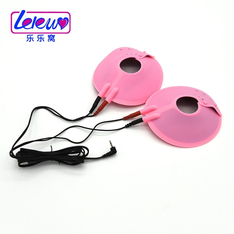 Sex Accessories Adult Game Electro Shock Vacuum Breast Enhancer Clitoris Nipple Sucker Twist Pump Massager Nipple Clamps Sex Toy