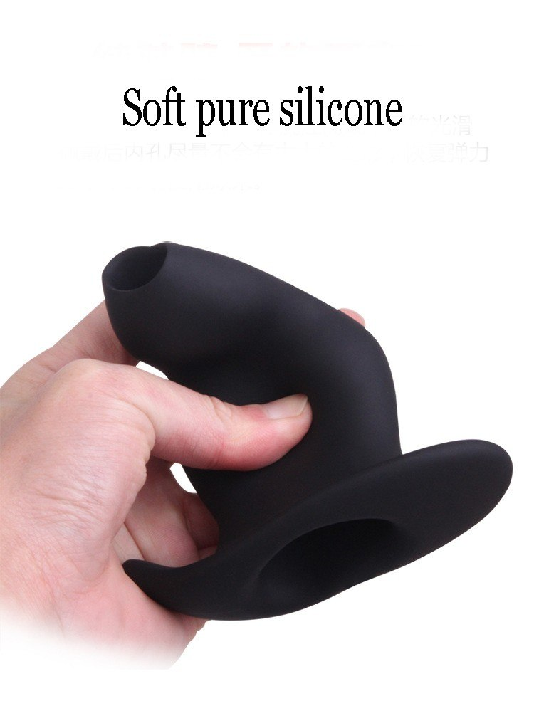Soft Silicone Hollow Butt Anal Plug Vagina Anus Speculum G Spot Prostate Massage Douche Enemator Adults Sex Toy For Men Women