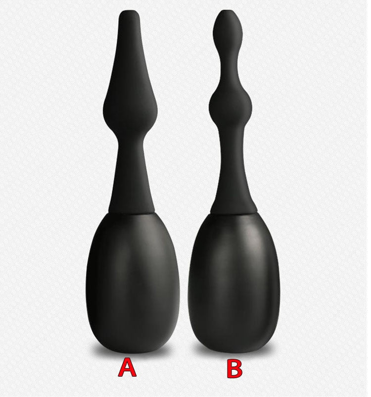 Spray water anal douche vagina cleaning silicone butt plug sex toys for men and women enema anal shower nozzle cleaner buttplug
