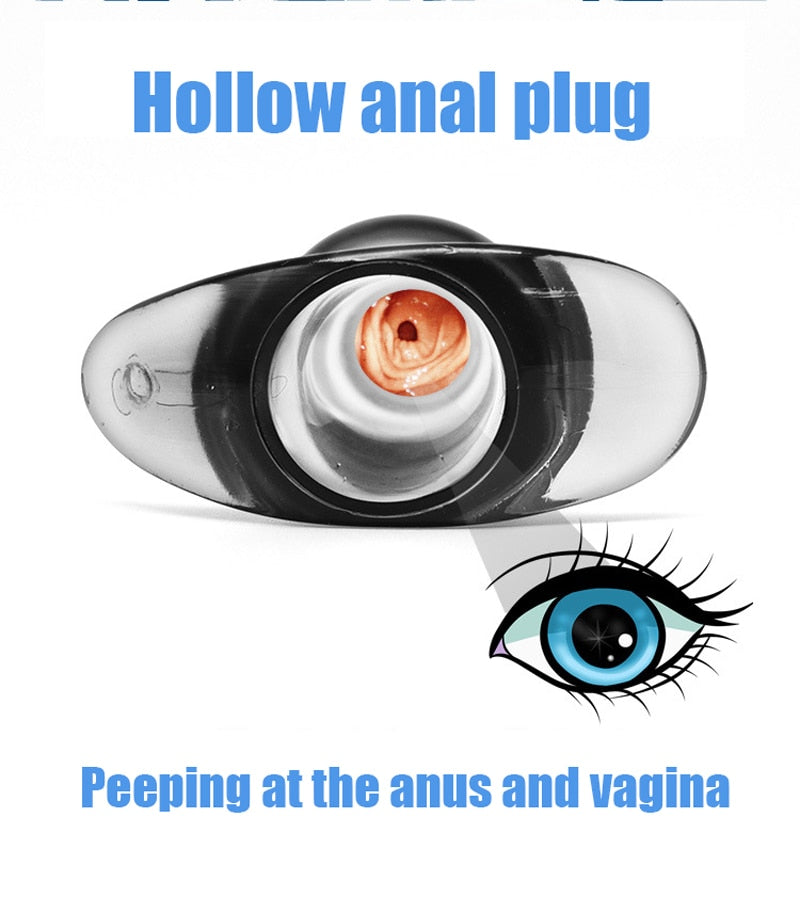Hollow anal plug soft Speculum can clean rinse anal dilator trainer hollow butt plug enema peep vagina gay sex toys for women