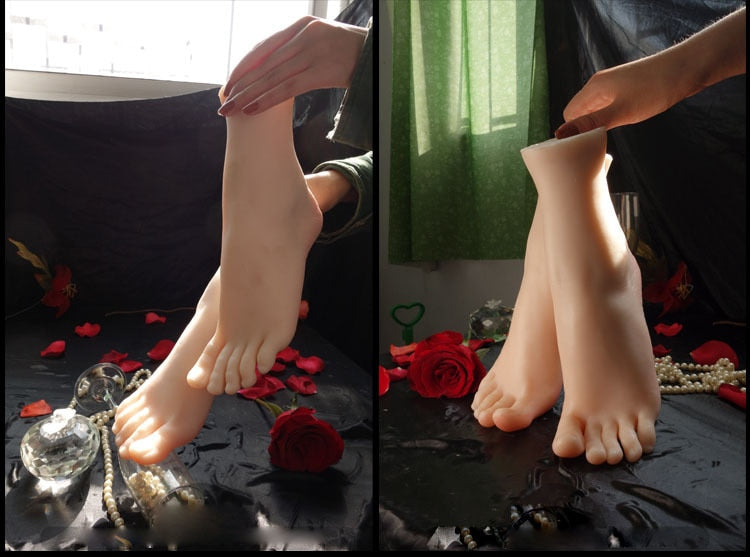 Newest Asian Girls Foot Clones Feet Worship Fetish Foot Fetish Jobs Toys Mannequin Real Skin Free Shipping