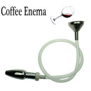 camaTech Metal Funnel Enema Anal Cleaning Kit Hollow Anal Plug Enema With Hose Vaginal Douche Shower Head Anus Cleaner Enemator