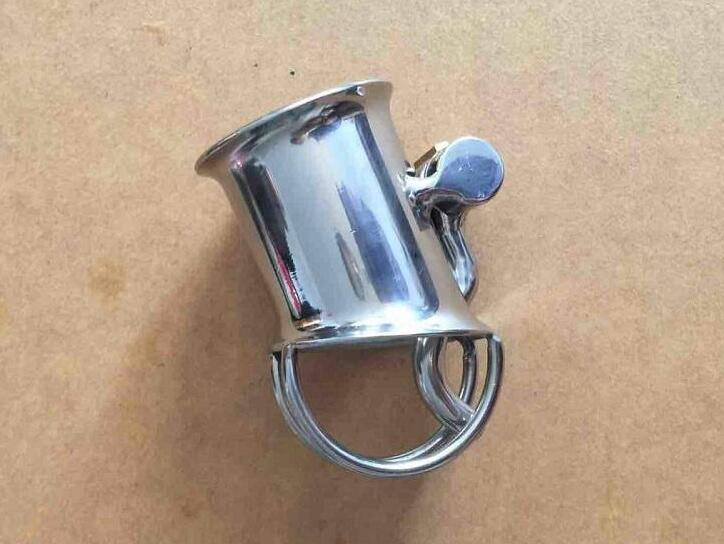 Stainless Steel Mens Chastity Device With Lock