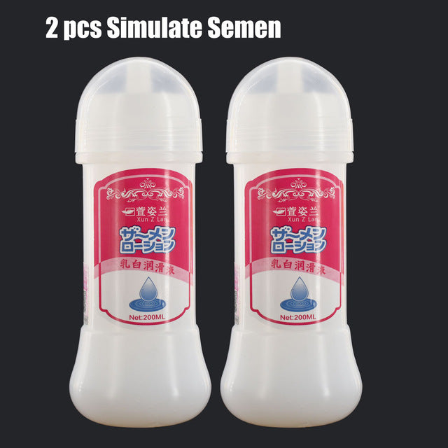 2Pcs Imitation Semen 200ml Silk Touch Anal Lubricant for Gays, Water-Based Sex Oil, Vaginal Anal Gel, Sex Products Sex Lubricant