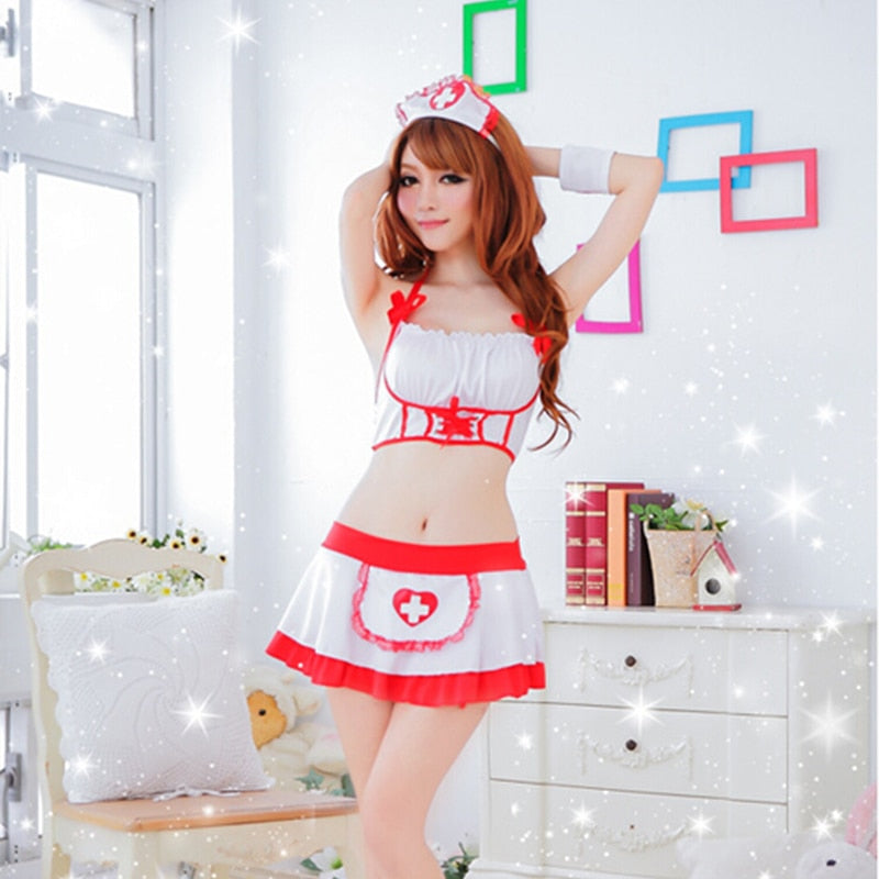 Nice Women Sexy Nurse Costume Erotic Lingerie Role Play Sexy Nurse Uniform Set Porn Erotic Sexy Lingerie G-string Skirt 25