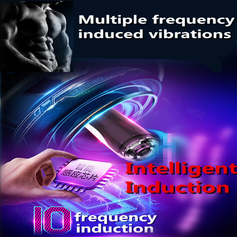 Sex Toy for Men Electric Full Automatic Male Masturbator Rotation Telescopic Voice Interaction Handsfree Sex Machine Real Vagina