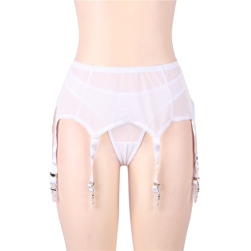 Plus Size Gothic Lace Garter Belt Panty Stitching High Waist Women Sexy Porte Jarretelle Vintage Backless Body Lingerie PS5182