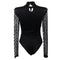 Short Jumpsuits For Women Black Long Sleeve Sexy Bodysuit Fashion Turtleneck Casual Plaid Skinny Basic Woman Bodysuit RS80752