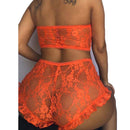 Full Lace Floral Bra Underwear Set Perspective Female Plus Size Sexy Lingerie Feminina High Rise Ruffled Ropa Interior RS80869