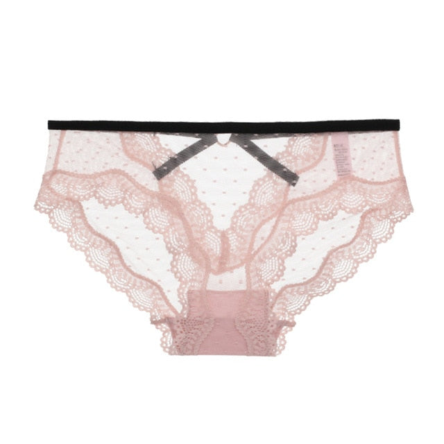 TERMEZY Sexy Lace Women Panties Transparent Low-waist Underpant Hollow Out Briefs Female Seamless G-string Underwear Lingerie