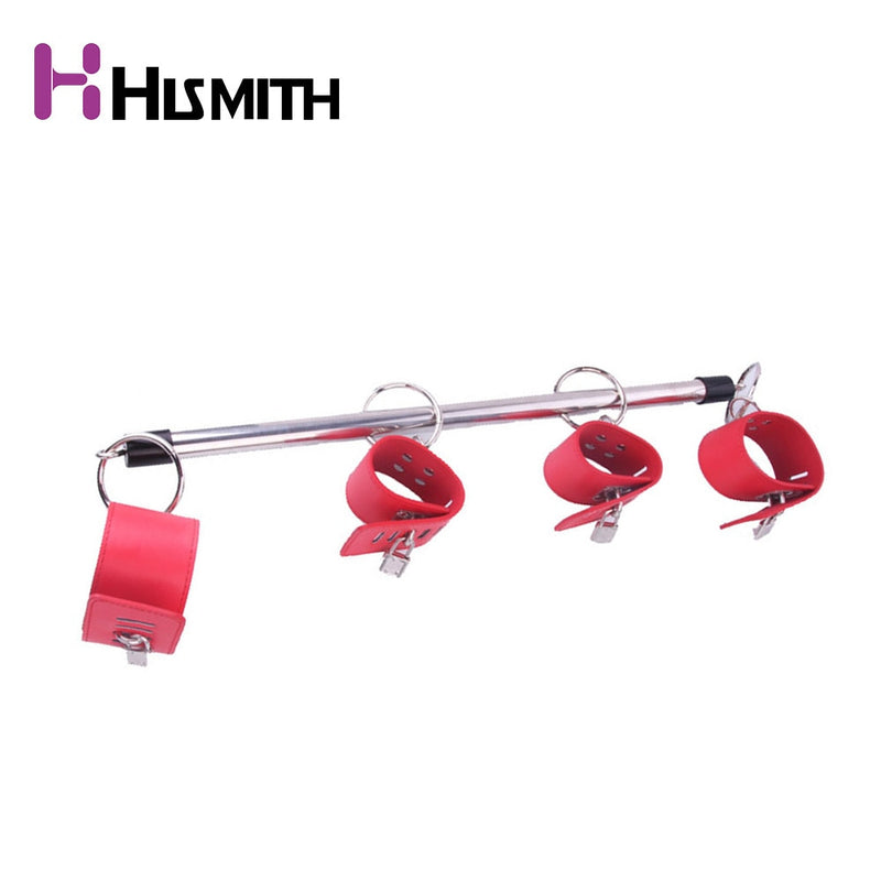BDSM Toys Stainless Steel Adjustable Spreader Bar Bondage Set Unisex Sex Slave Handcuffs Ankle Cuffs Fetish Restraints Shackles