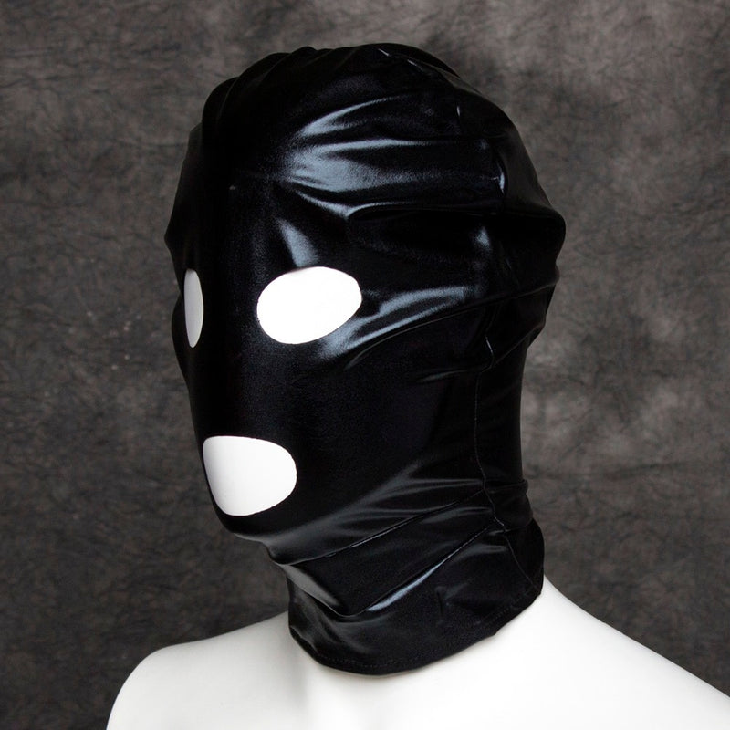 Sexy costume cosplay open mouth eye headgear SM hood mask head harness bondage restraint adult sex game toy for women men couple