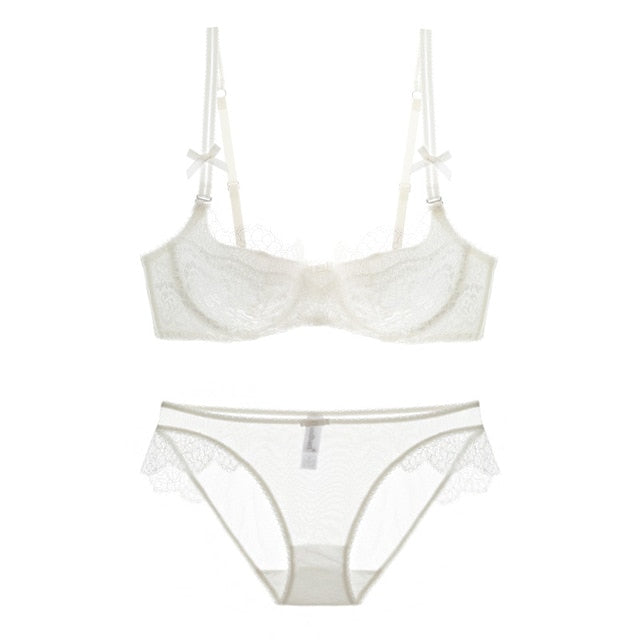 Intimates Sexy Women Lace Lingerie Bra Set Push Up Bras And Underwear Sets Plus size A B C D Cup Embroidery Bra And Panty Set