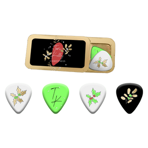 A Tori Kelly Christmas Guitar Pick Set