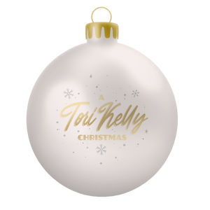 A Tori Kelly Christmas Ornament - White