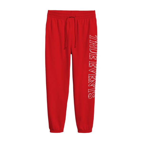 Inspired Logo Red Sweatpants