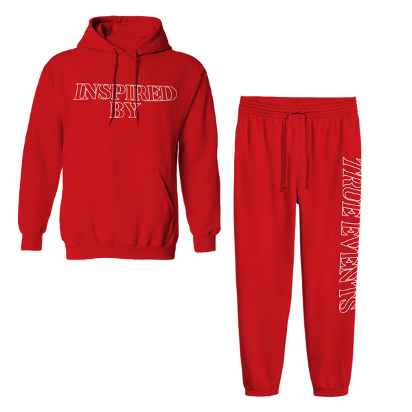 Inspired Red Sweatsuit
