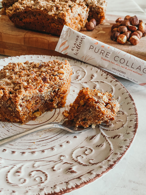 Paleo Pumpkin Collagen Coffee Cake
