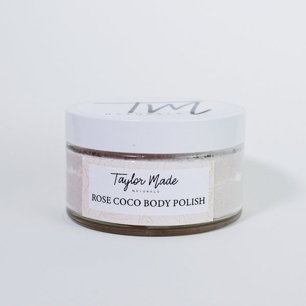 Cleanse, Exfoliate and Moisturise. Talk abut triple threat. Our Natural and Nourishing body polish removes dead skin cells and moisturises leaving the skin feeling silky and smooth and smelling sweet.   Unlike other sugar scrubs made with only oils and sugars, our emulsified body polish becomes a cream exfoliating lotion upon contact. Leaving soft supple skin and no oily residue behind.