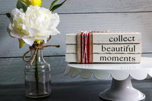 Load image into Gallery viewer, Collect Beautiful Moments Book Set | Painted Book Stack