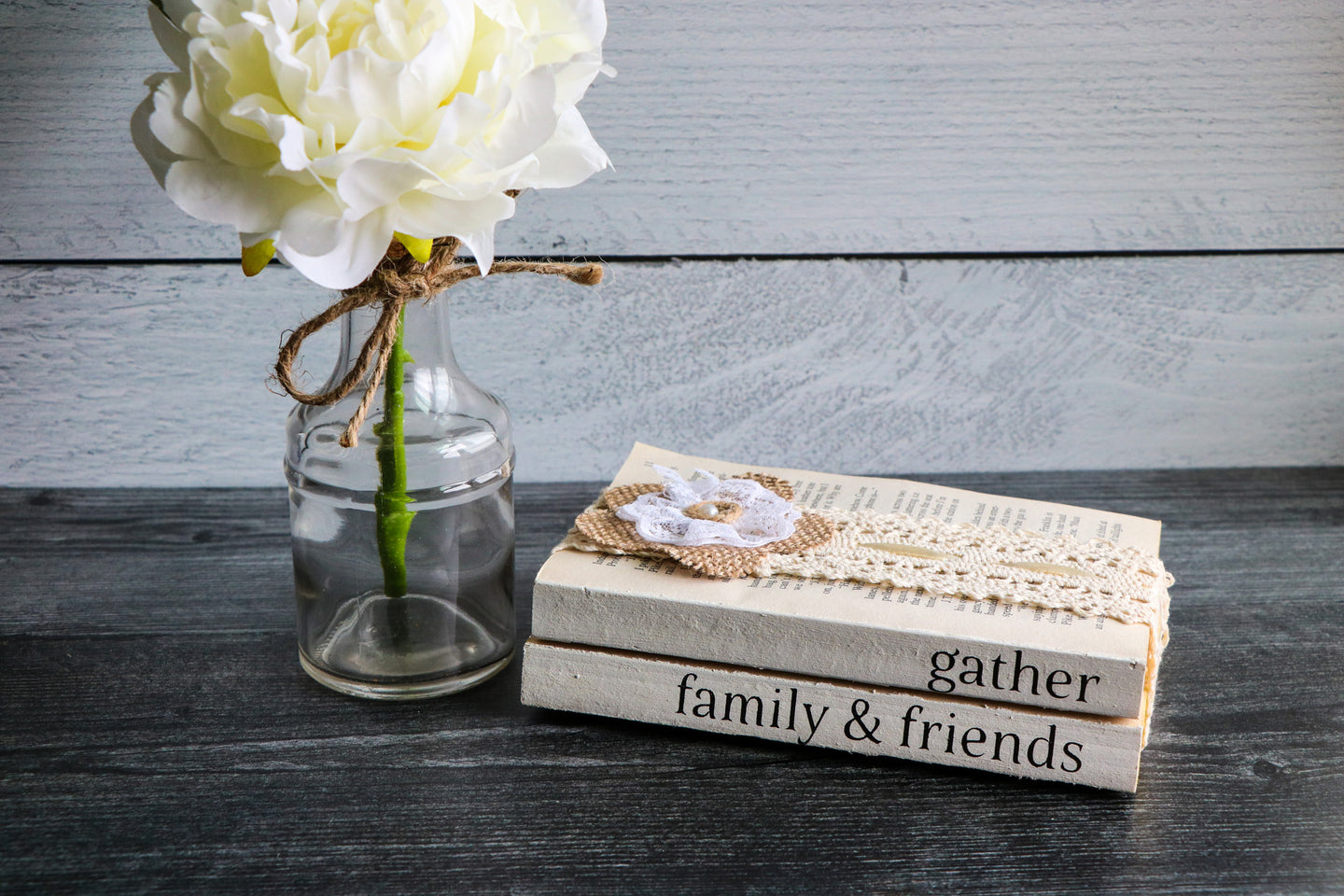 Gather Family & Friends Book Set | Painted Book Stack