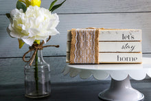 Load image into Gallery viewer, Let's Stay Home Book Set | Painted Book Stack