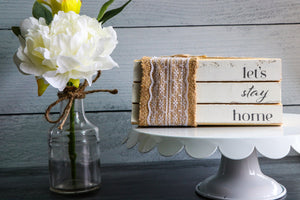 Let's Stay Home Book Set | Painted Book Stack