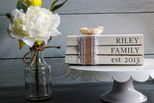 Load image into Gallery viewer, Personalized Family Name Book Set | Painted Book Stack