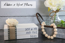 Load image into Gallery viewer, Custom Hand Stamped Faux Book Stack