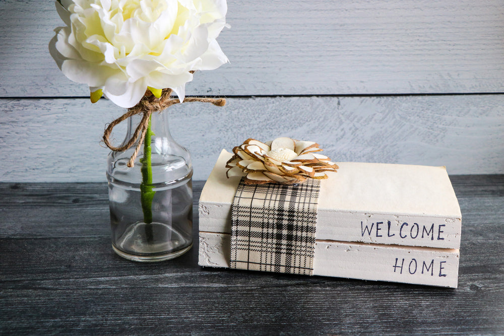 Welcome Home Book Set | Stamped Book Stack