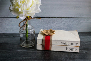 Welcome Home Book Set | Painted Book Stack