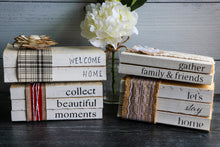 Load image into Gallery viewer, Welcome Home Book Set | Stamped Book Stack