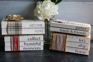 Collect Beautiful Moments Book Set | Painted Book Stack