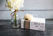 Load image into Gallery viewer, You, Me and the Dogs Wood Book Set | Faux Book Stack