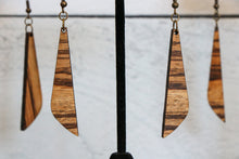 Load image into Gallery viewer, Zebrawood Slim Wood Earrings