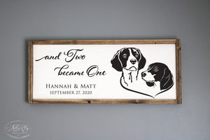 Listing #2 for Heather B | Personalized Wedding Sign | Beagles