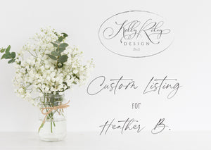 Listing #1 for Heather B | Personalized Wedding Sign | Holsteins