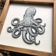 Load image into Gallery viewer, Octopus | Under The Sea | Framed Laser Wood Sign | 12x12