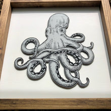 Load image into Gallery viewer, Octopus | Under The Sea | Framed Laser Wood Sign