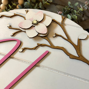 Personalized Nursery Sign | Baby Girl | Magnolia