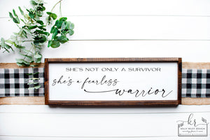 Listing for Amanda G | She's a Warrior Wood Sign